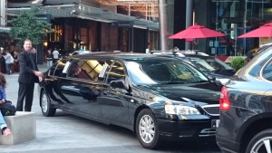 Geoff with the limo!