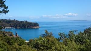view above South Cove, Kawau Island
